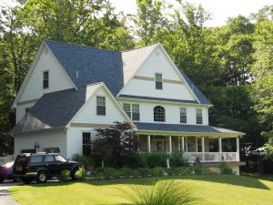 custom home with attached garage in chester county