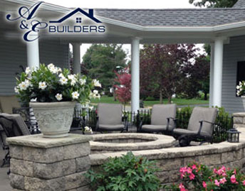 covered porch addition on residential home