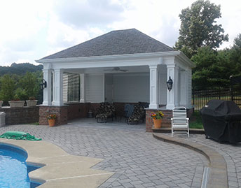 covered pool house addition in chester county