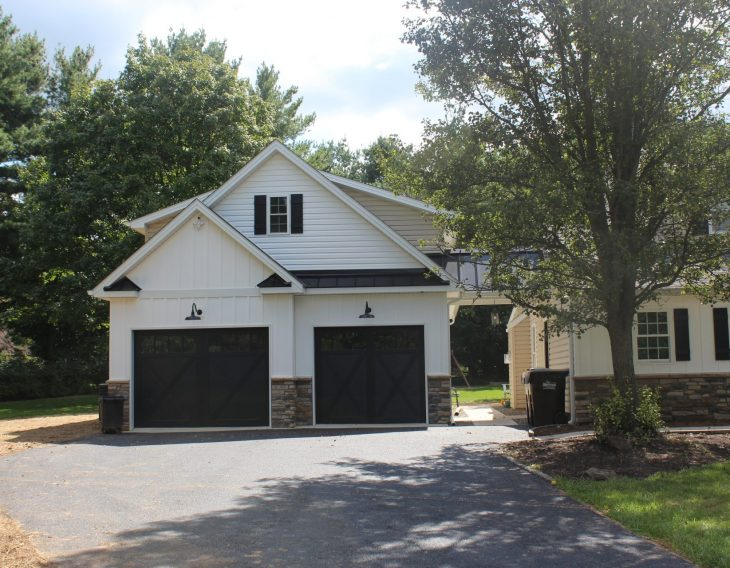 newly finished two-story garage in pa